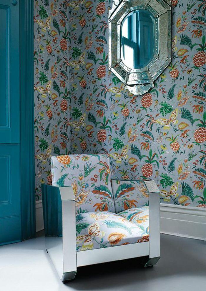 1001 mod les de papier peint tropical et exotique papier peint tropical tropical et papier peint. Black Bedroom Furniture Sets. Home Design Ideas