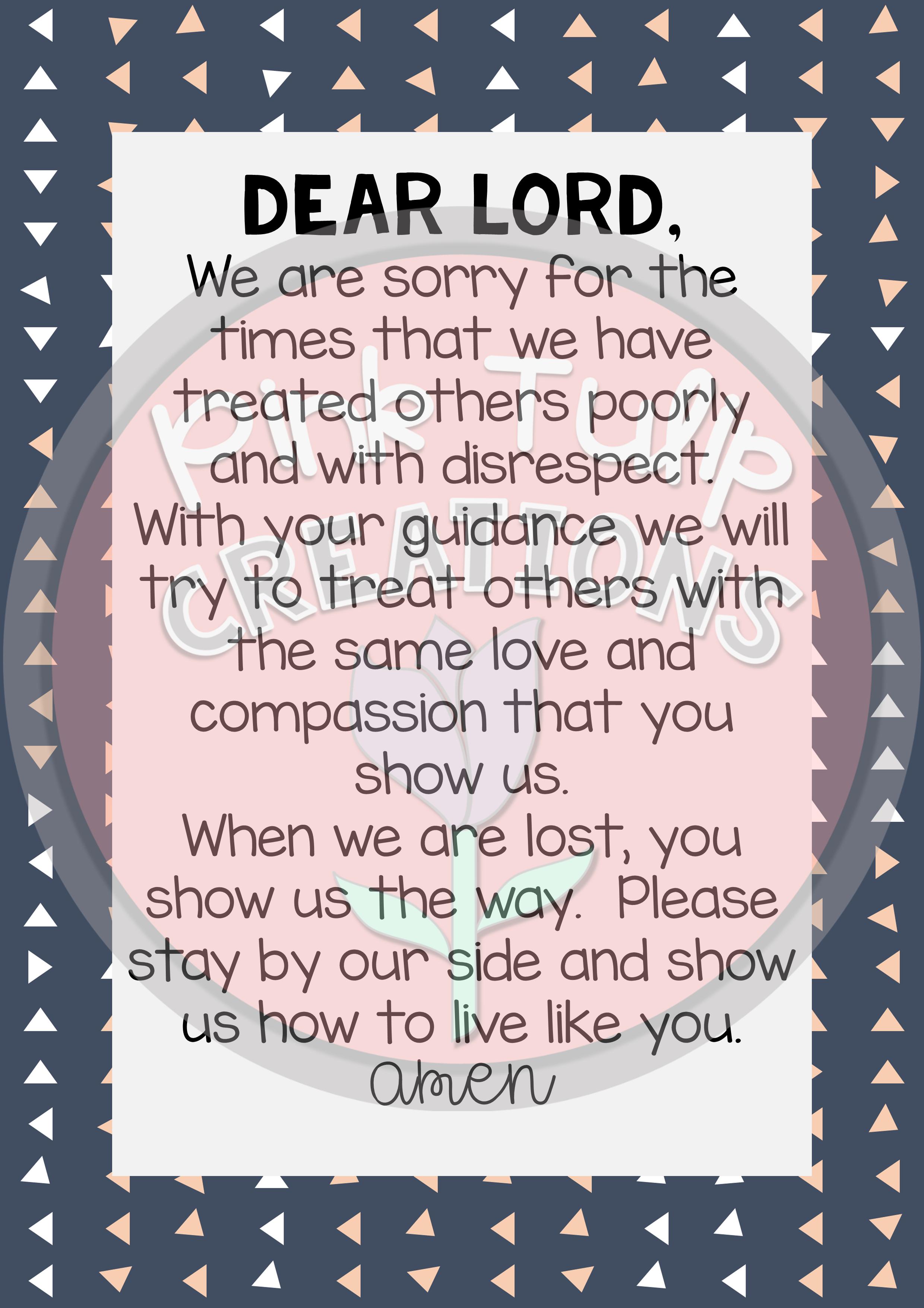 Pack Of Beautiful Catholic Classroom Prayers