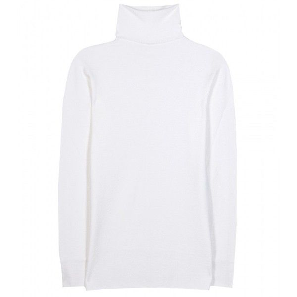 The Row Ruby Merino Wool-Blend Turtleneck Sweater ($625) ❤ liked on Polyvore