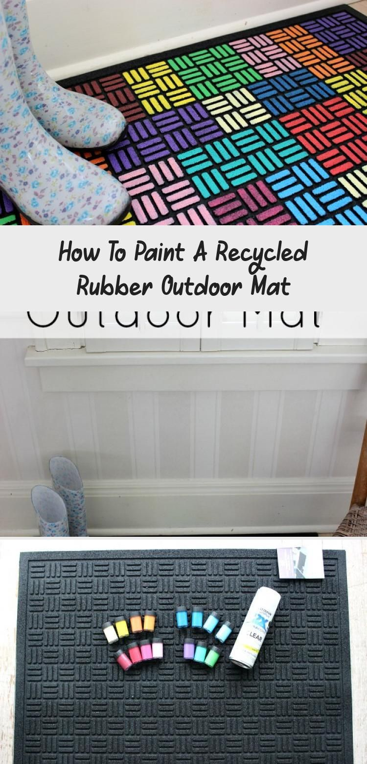 How To Paint A Recycled Rubber Outdoor Mat Recycled