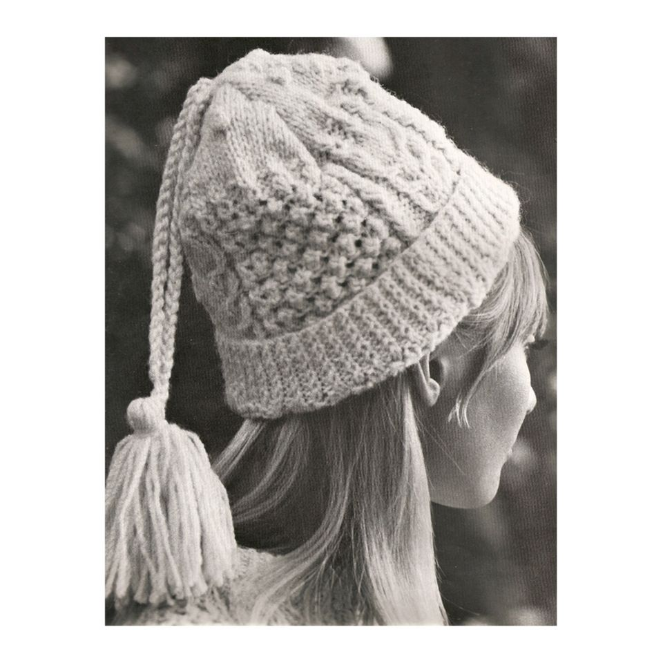 Hat knitting pattern this classic styled cable knitted hat hat knitting pattern this classic styled cable knitted hat features an extra long tailed bankloansurffo Choice Image