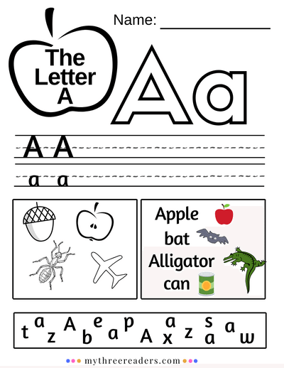 Teaching The Letter A - Activities, Crafts, Printables, Songs About The  Letter A & MUCH More! Preschool Letters Printables, Alphabet Worksheets  Preschool, Teaching Letters