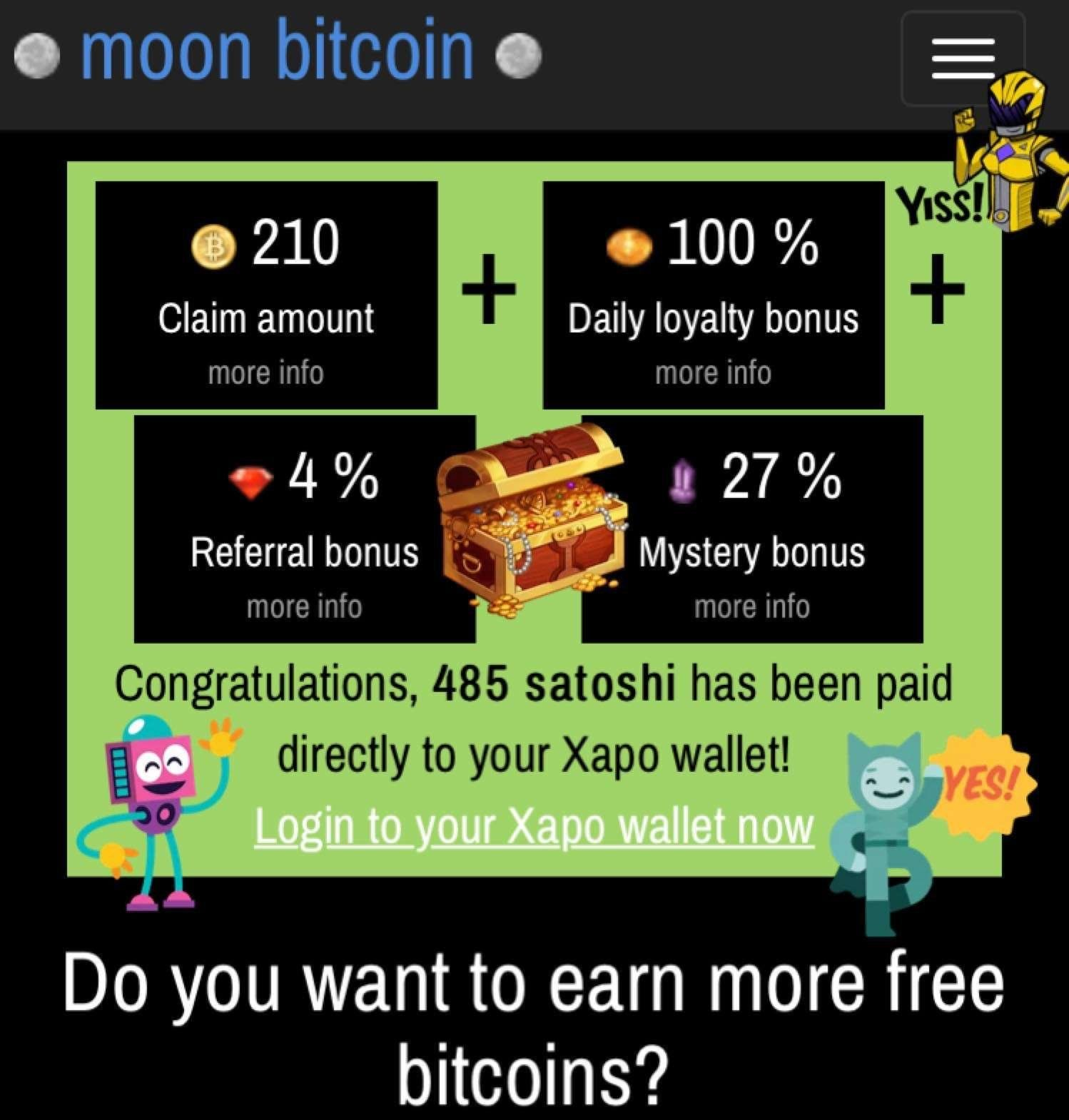 Claim Free Bitcoin Daily at MoonBit