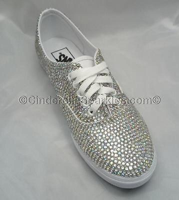 887522888082 Glitzy Bling Sparkle Rhinestone Crystal Vans trainers