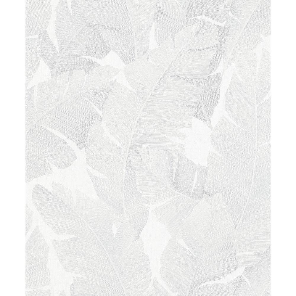 Marburg Attalea White Palm Leaf Strippable Wallpaper Covers 57.5 sq. ft.