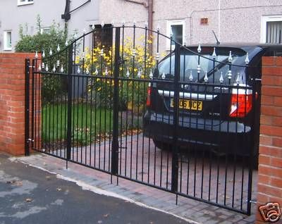 Wrought Iron Bi Fold Gates Driveway Gate Backyard Garden Gates