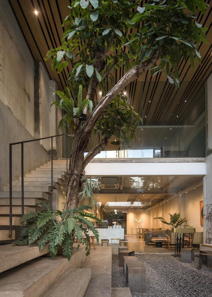 Gallery Of Sawo Coffee Roastery Oi Architect 1 Restaurant Design Inspiration Cafe Interior Design Coffee Shop Design