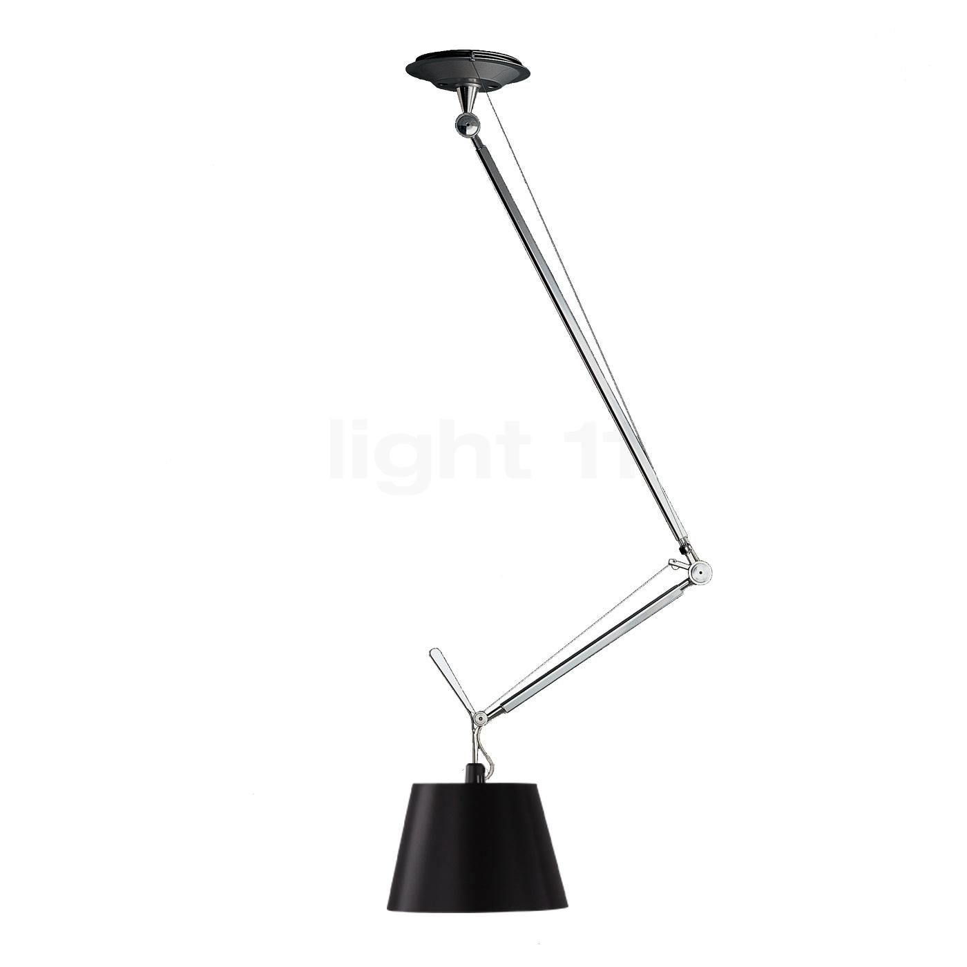Buy Artemide Tolomeo Sospensione Decentrata Black Edition At Interior Lighting Lamp Lights