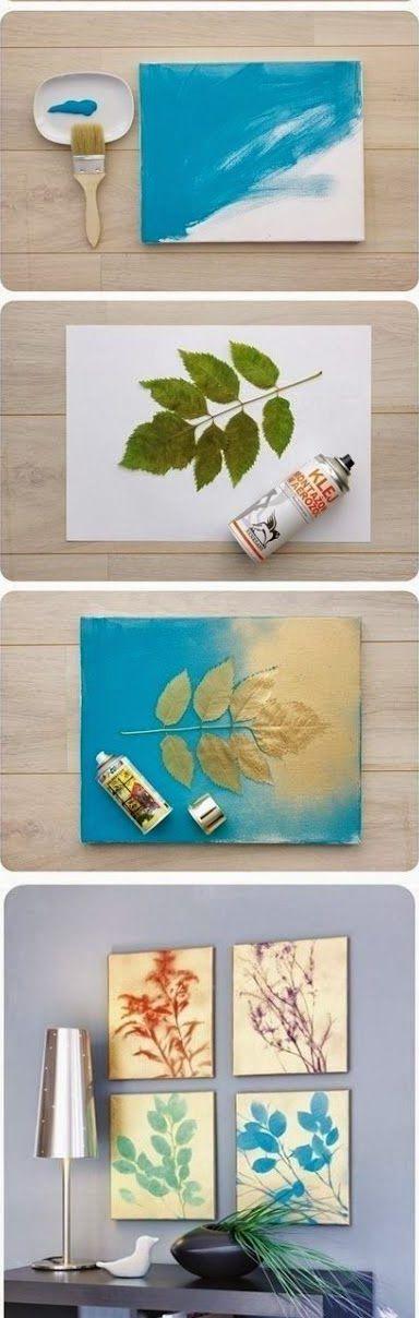 27 The Cheapest & Easiest Tutorials To Make Astonishing DIY Wall Art ...