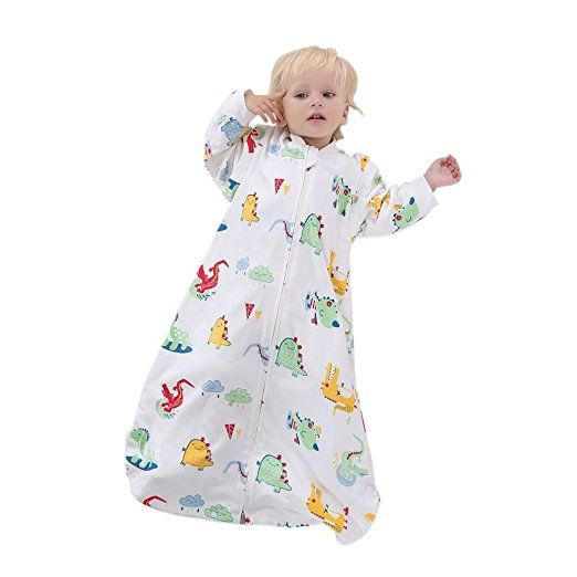 Bourina Thick Newborn Unisex Baby Toddler Wearable Blanket Fits Babys Between 31-35 Inch