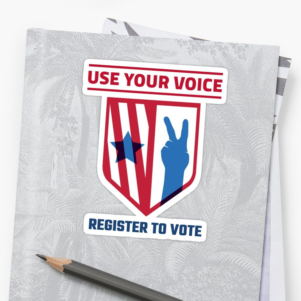'Use Your Voice Register To Vote' Sticker by Groppo in