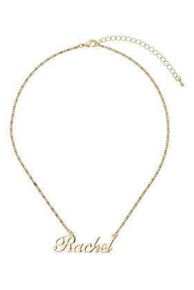 d9046ab218691 Rachel Name Necklace | It's personal | Name necklace, Melissa name ...