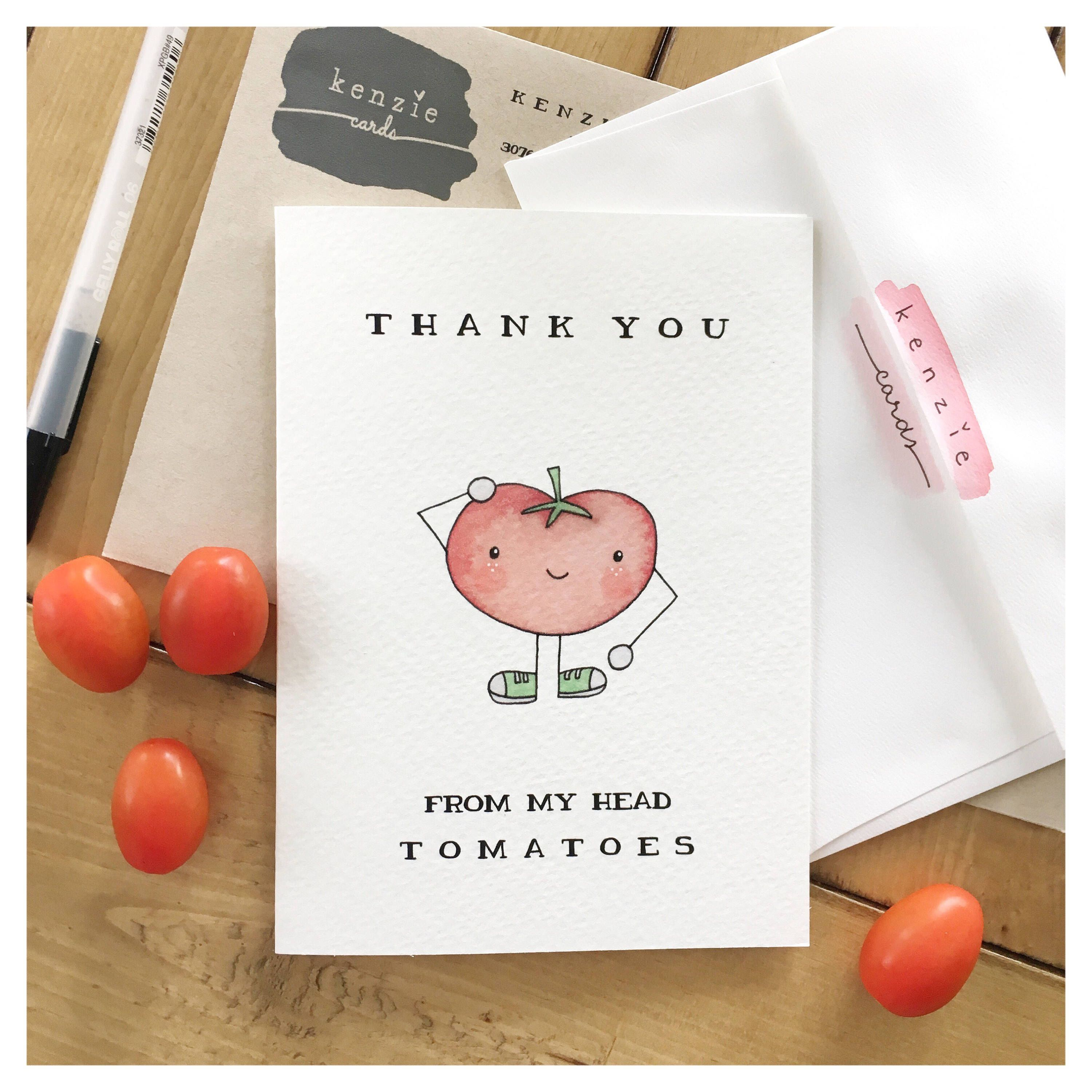 Vegetable card tomatoe card vegetable decor vegetable pun funny greetings cards thank you for your support vegetable card tomatoe decor pun punny greeting gift vegan kristyandbryce Image collections