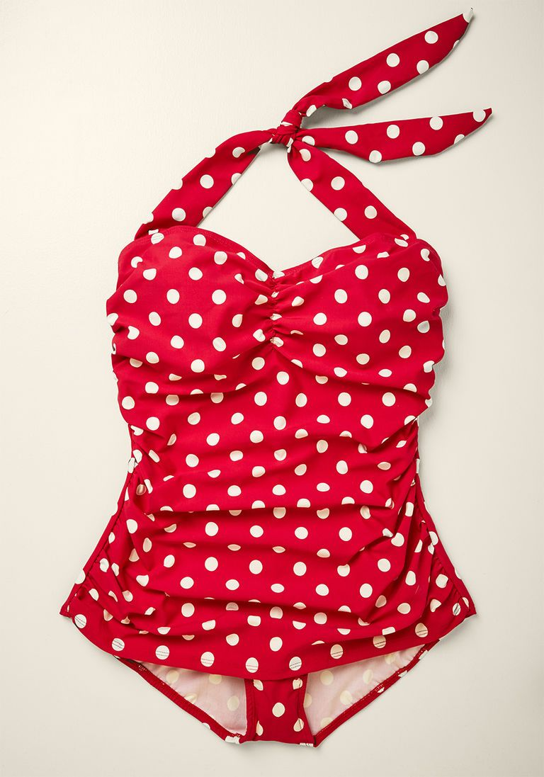 6001f6cd5ba Beach Blanket Bingo One-Piece Swimsuit in Red - 16-34 in 30 - Skirted -  Plus Sizes Available