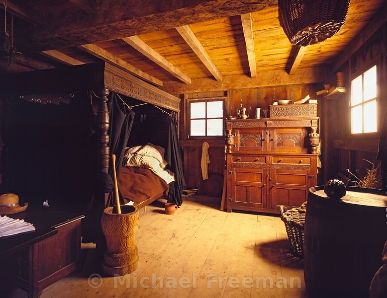 17th Century Bedroom PilgrimEarly Interiors T Bedroom