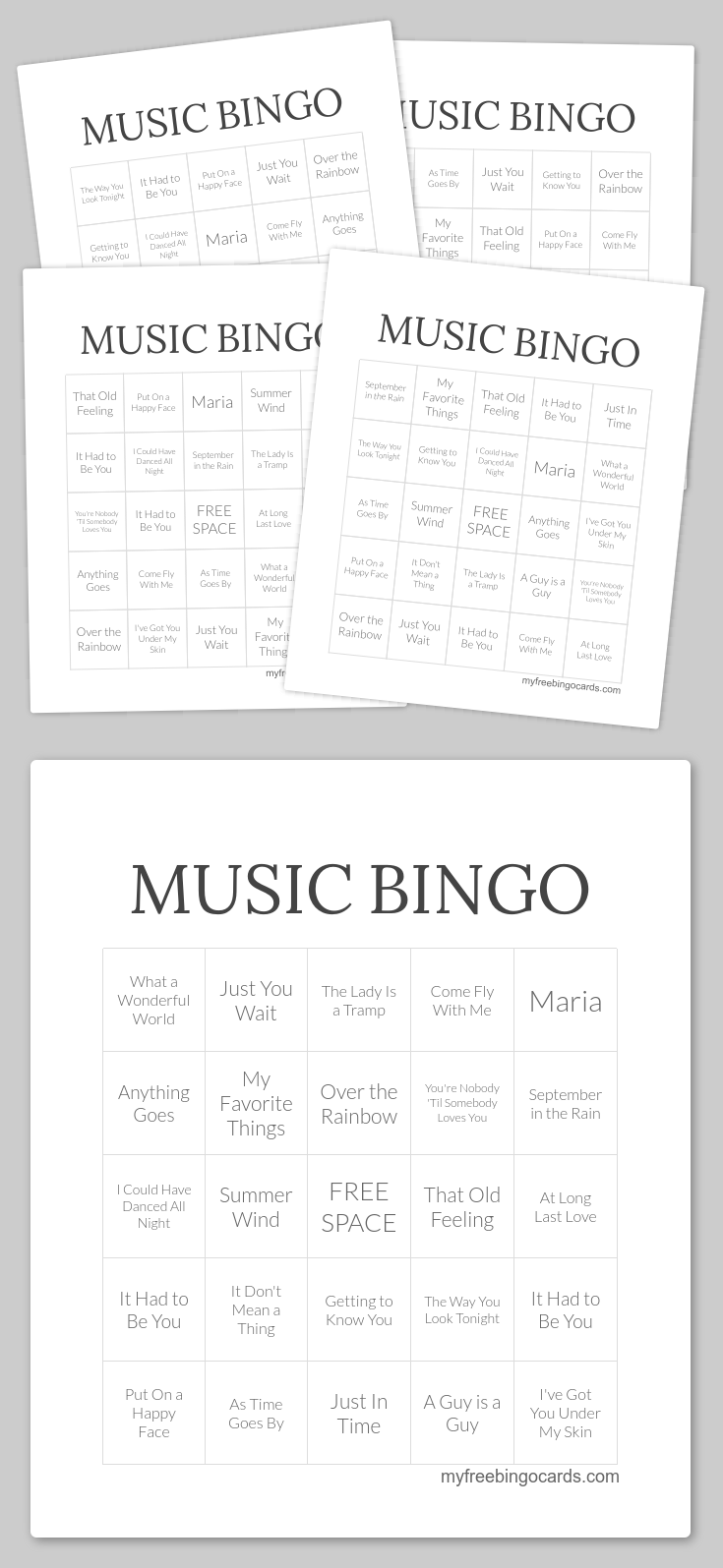 It is a photo of Musical Bingo Cards Printable inside printable free