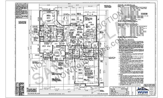 Sheet 1 Typically Includes The First Story Floor Plan