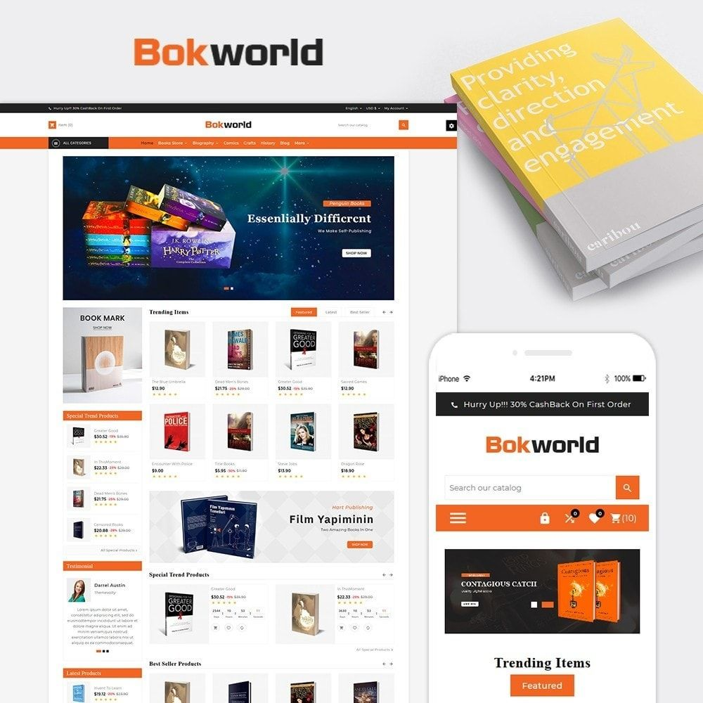 Book Word Responsive Library Template In 2020 Prestashop Templates Prestashop Themes Templates