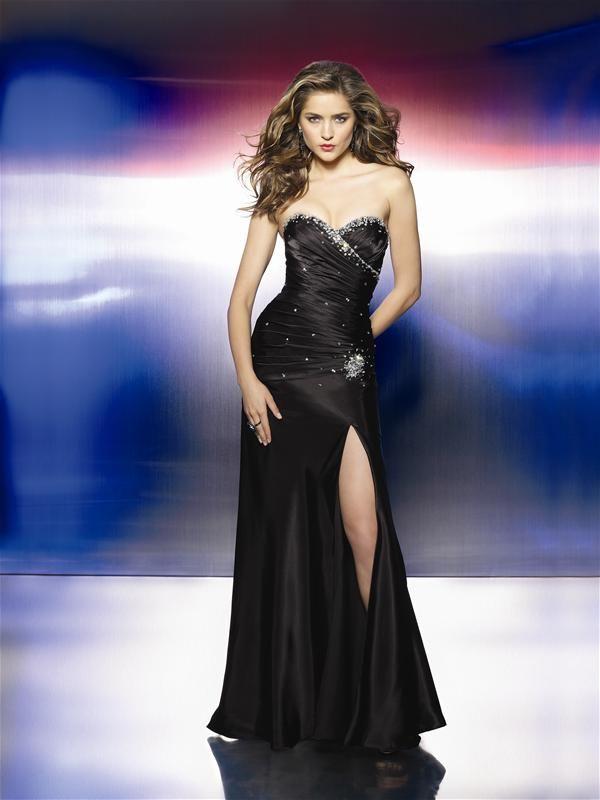 05b960dc24 Vestidos de Noche de color Negro – Muy Lindos