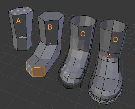 blender 3d modeling shoes Avie 411 / MigReSh D3