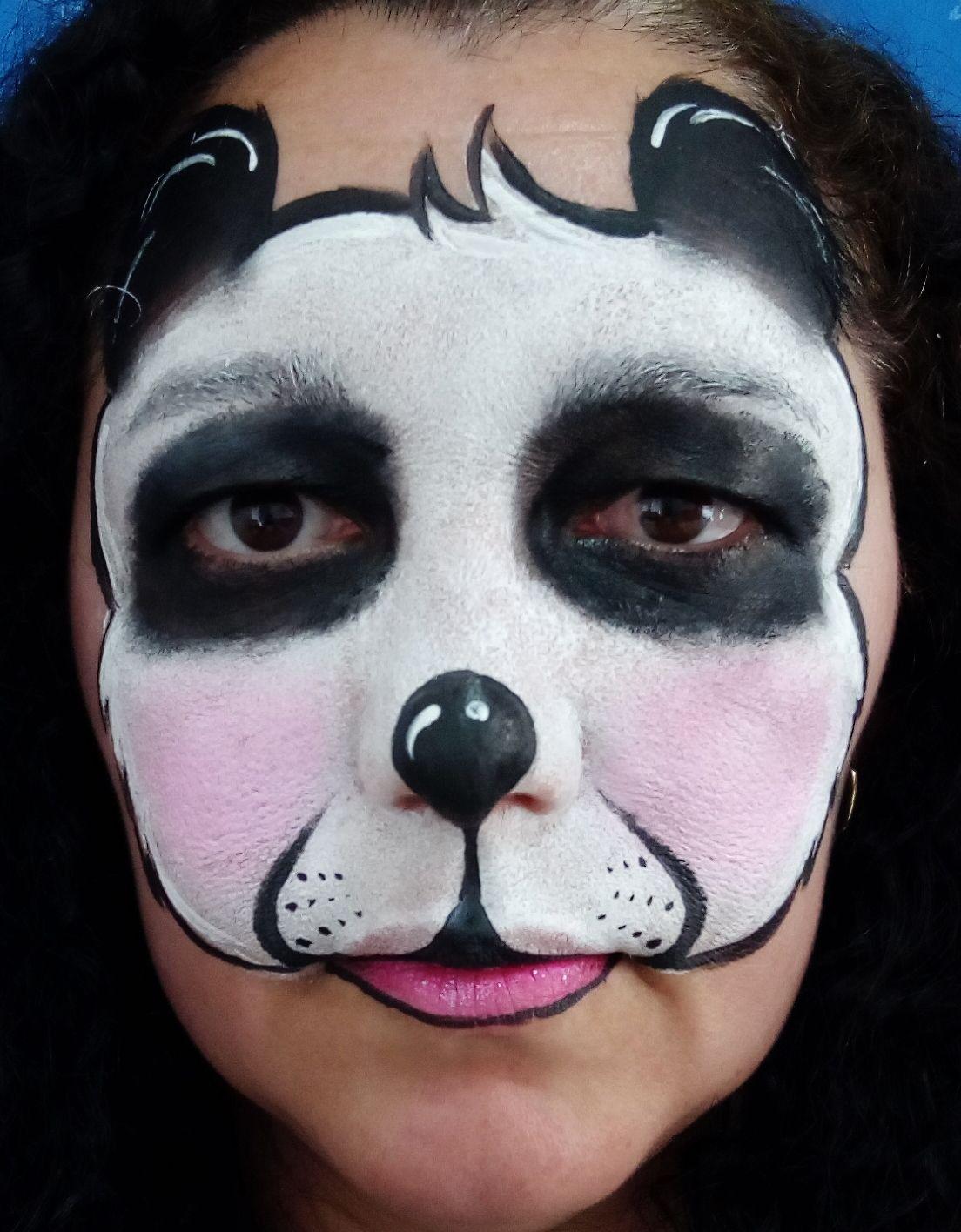 Sarah Cruz Pintura Facial Urso Panda Urso Panda Fantasia De Urso Pinturas Faciais
