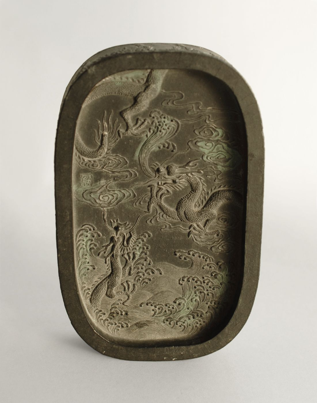 Beautiful Antique Chinese Ink Stick (Ink Cake). Decorated with ...