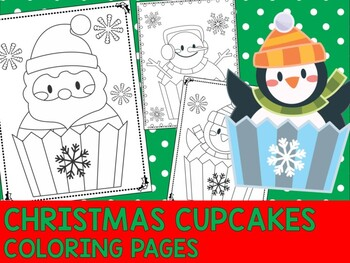 Christmas Cupcakes Coloring Pages Editable The Crayon Crowd Cupcake Coloring Pages Coloring Pages Christmas Teaching