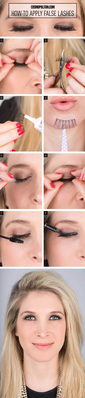 How to apply fake eyelashes Nail Design, Nail Art, Nail ...