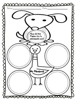 Pigeon Wants a Puppy Common Core Story Activities- Freebie
