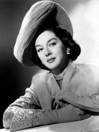 """ROSALIND RUSSELL ~ Born June 1907 in Waterbury, Connecticut  -  birth name: Catherine Russell  -  married Frederick Brisson [1941-1976]  -  had 1 son, Lance  -  movies  included  """"His Girl Friday""""... """"The Women"""" ...""""Gypsy""""...""""Auntie Mame""""...""""Picnic""""... """"My Sister Eileen""""...""""Evelyn Prentic"""" among many others  -  Stage roles in """"Wonderful Town""""... """"Auntie Mame""""  -   She won Golden Globes in 1947, 48, 59, 62,  63  -   Died at  69 in Nov. 1976 in Beverly Hills, Ca. of  metastasized breast cancer"""
