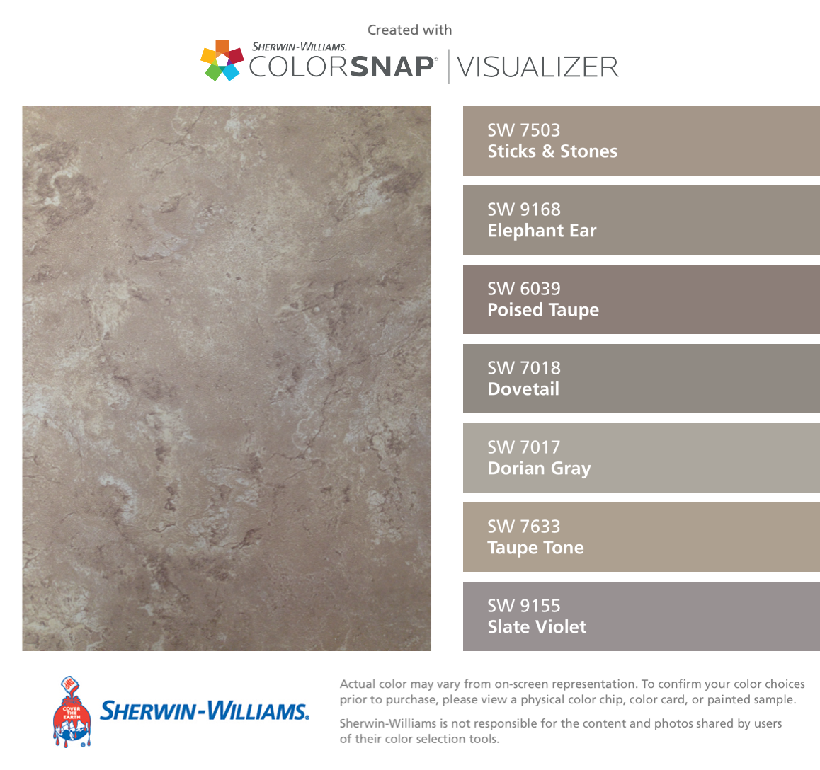 Netsuke Sherwin Williams I Found These Colors With Colorsnap 174 Visualizer For Iphone