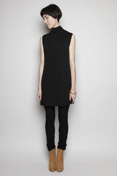 Totokaelo - Assembly New York - Sleeveless Mini Dress - Black Rib/Black