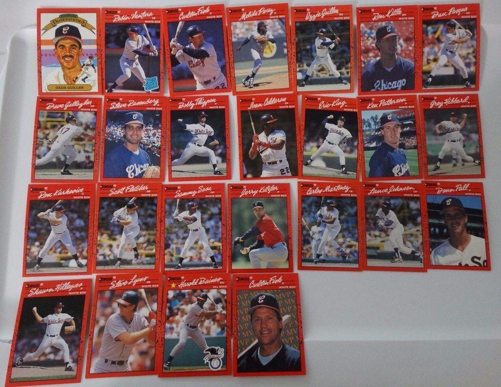 1990 donruss chicago white sox team set of 25 baseball