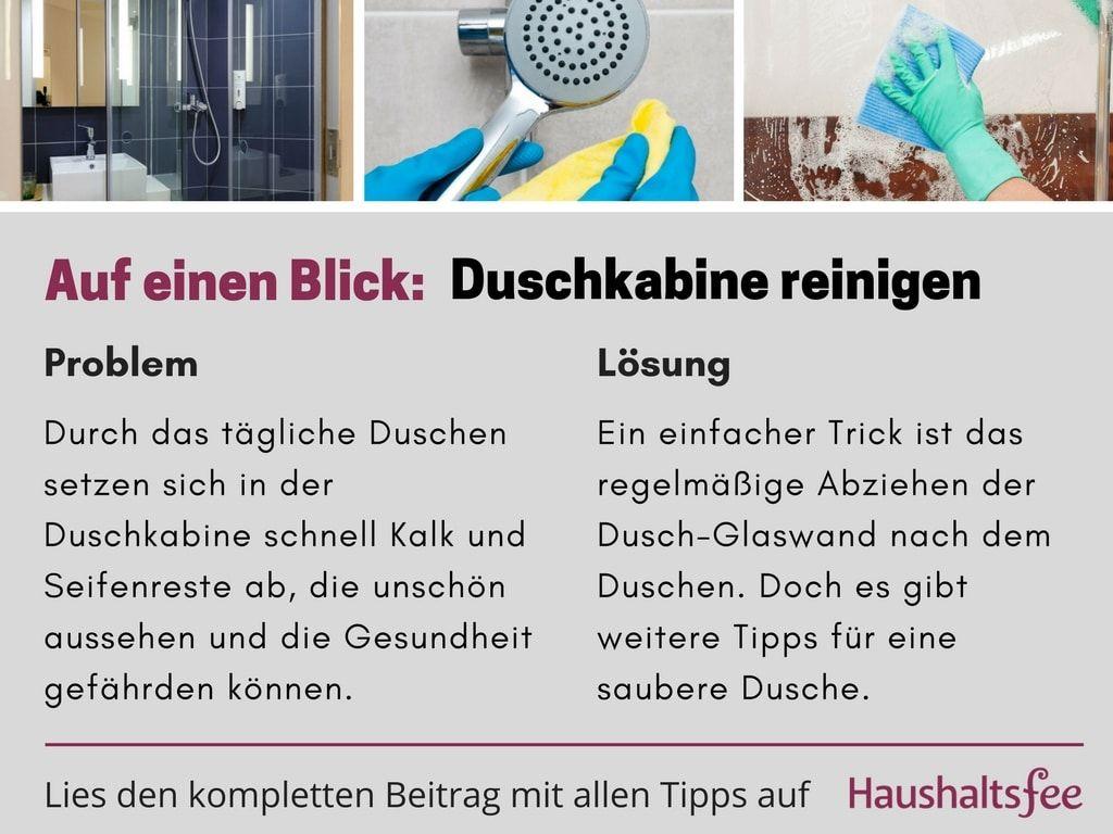 Duschkabine reinigen schnell einfach effizient putzen - Glasduschwand reinigen ...
