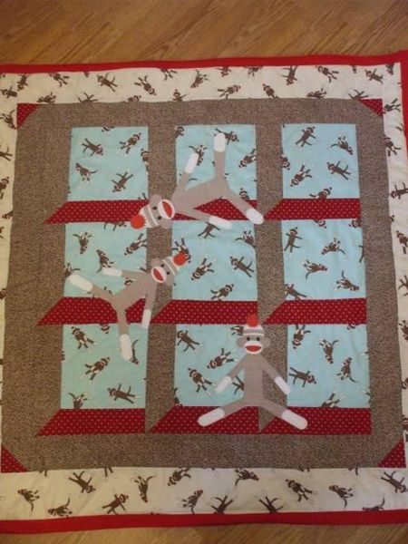 Sock Monkey quilt!   Quilts/Sewing   Pinterest   Monkey, Socks and ... : monkey baby quilt pattern - Adamdwight.com
