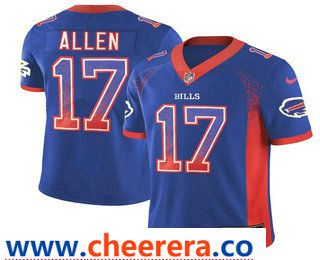 New Men's Buffalo Bills #17 Josh Allen Blue 2018 Fashion Drift Color