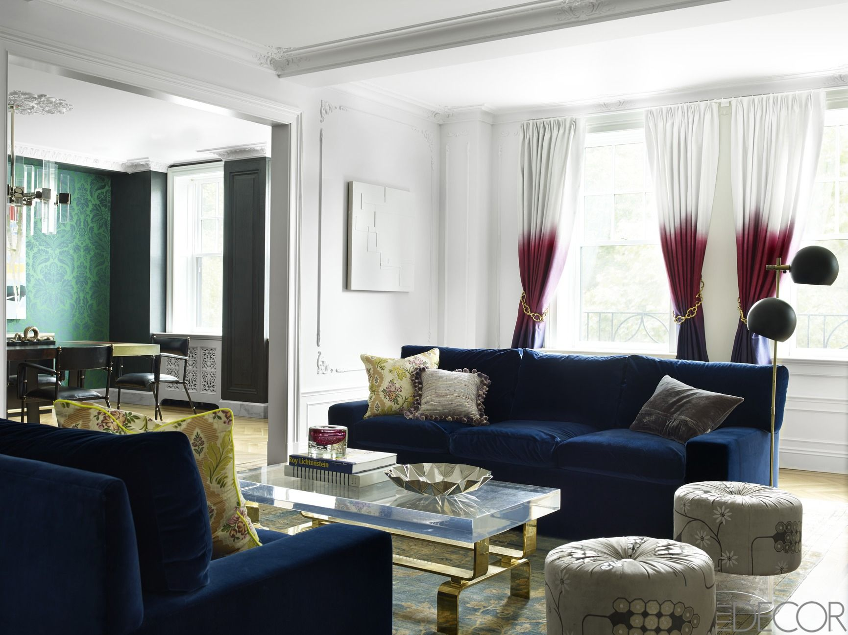 Modern living room curtain styles intrinsiclifedesign