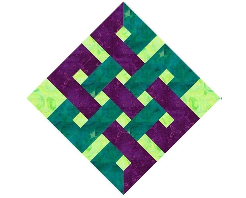 Quilting Designs On Paper : Eternity Knot - Paper pieced quilt block pattern, PDF format Quilt patterns free, Quilt ...
