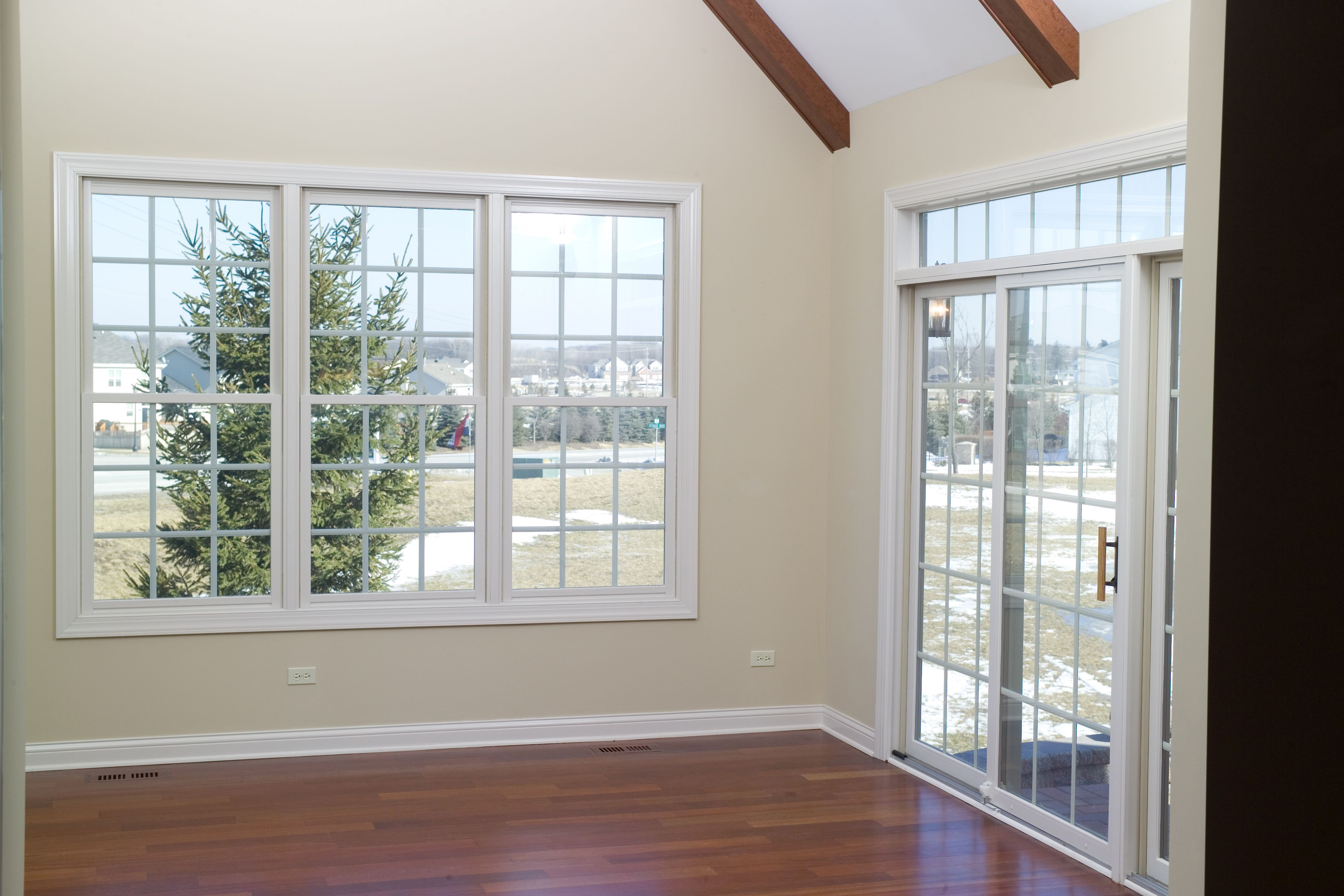 Casco Double Hung Windows And Aluminum Clad Wood Doors In Slider Design With Transom Windows Manufactured In South Elgin Il Windows Transom Windows Clad Wood