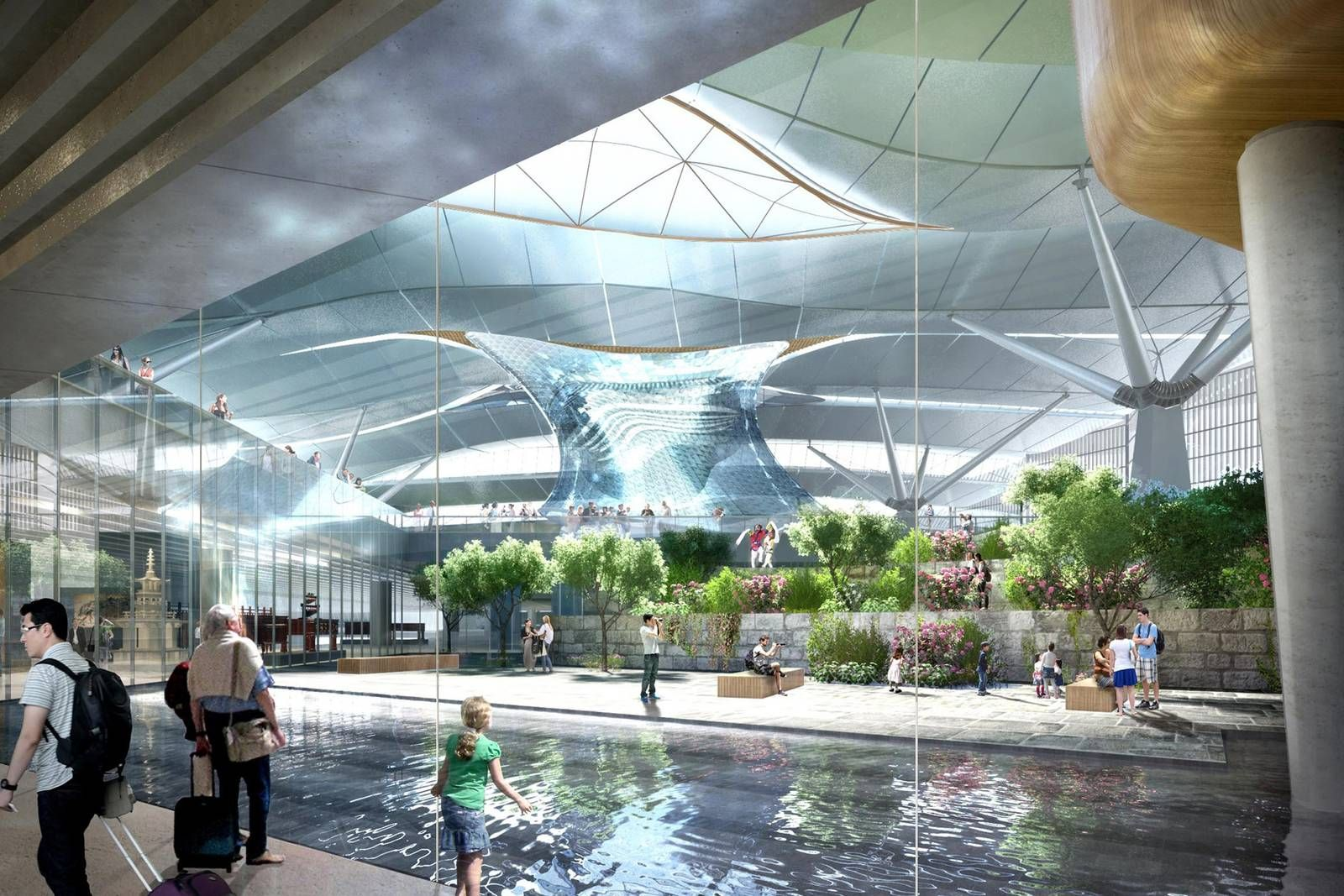Incheon Airport Projects Grimshaw Architects architecture cg