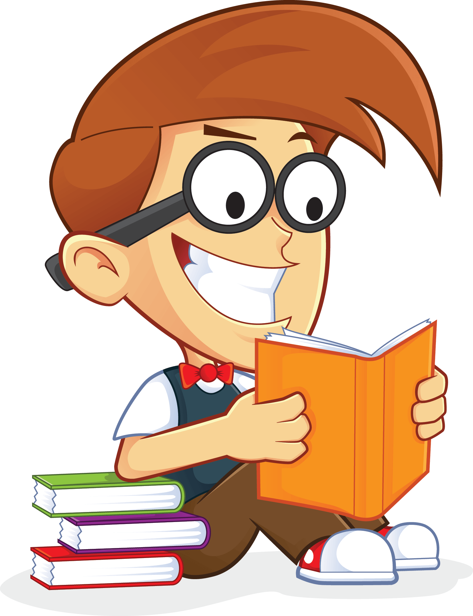 Libros Png Free Nerd Geek Reading Book People High Resolution Clip