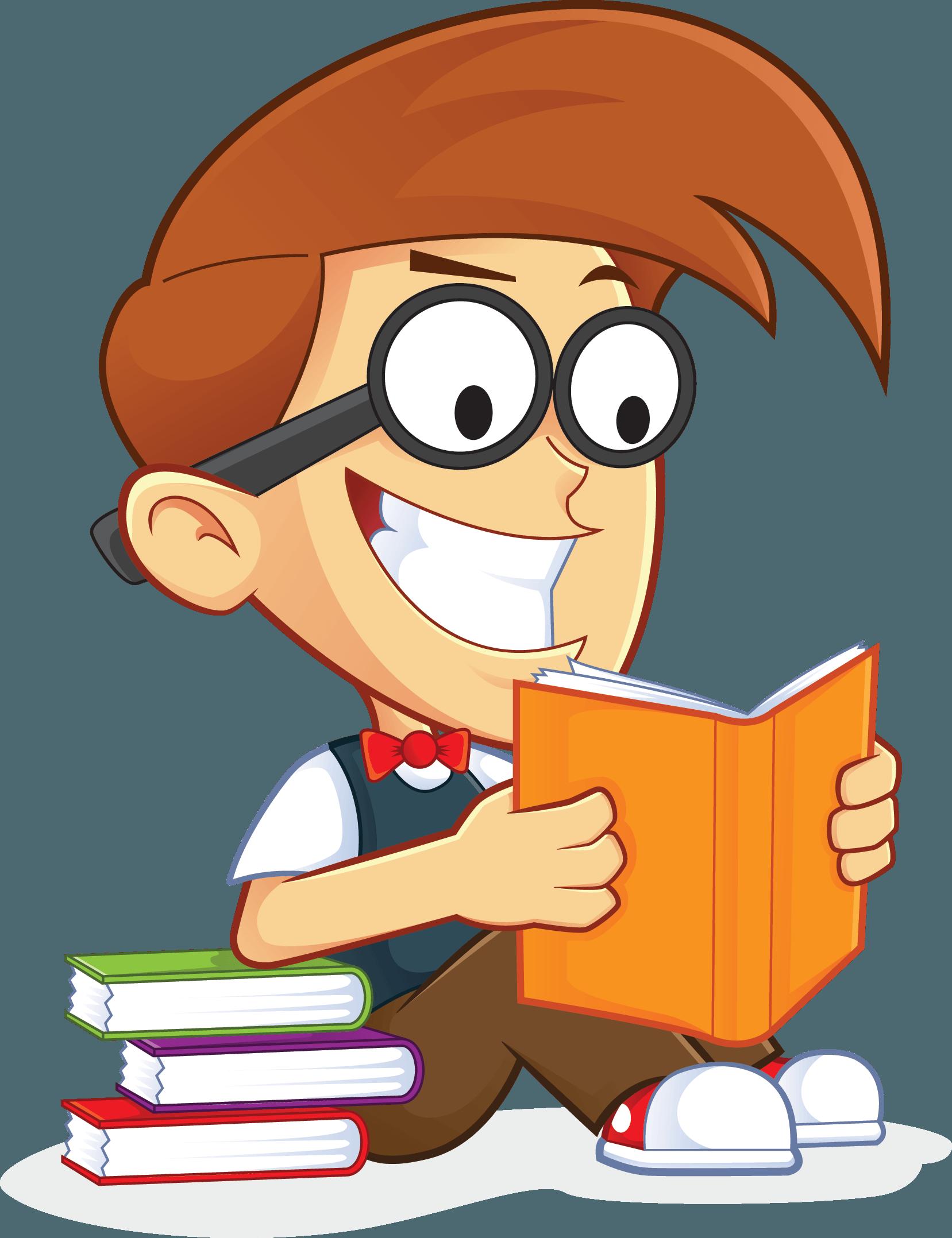 free nerd geek reading book people high resolution clip art [ 1657 x 2156 Pixel ]
