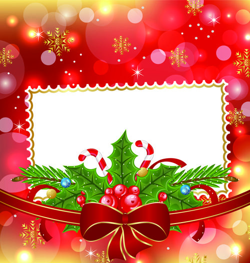 Shiny Christmas Backgrounds With bow design vector 04 Navidad