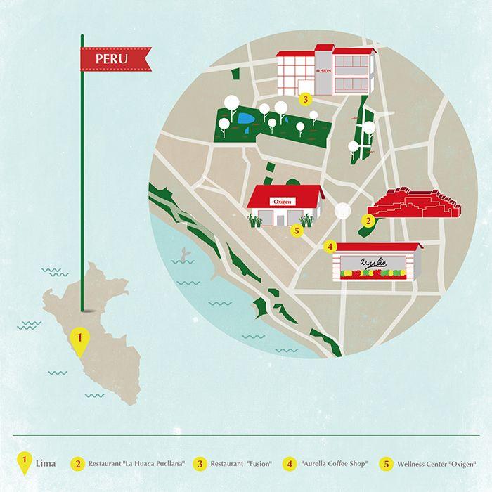 Lima map - Peru