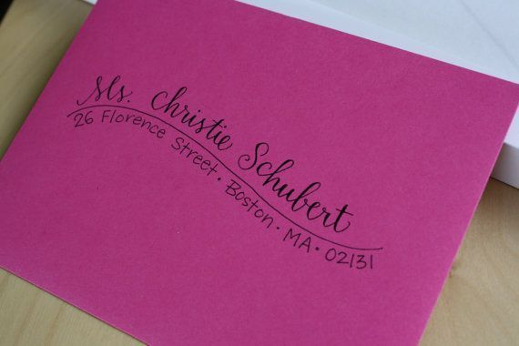 Fonts To Address Envelopes Cute Way To Address An Envelope