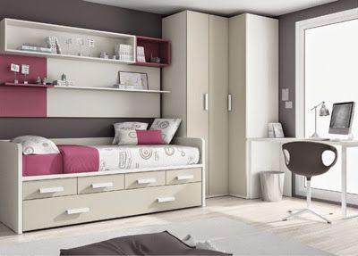 Dormitorio juvenil armario esquinero jbg pinterest for Armario habitacion nina
