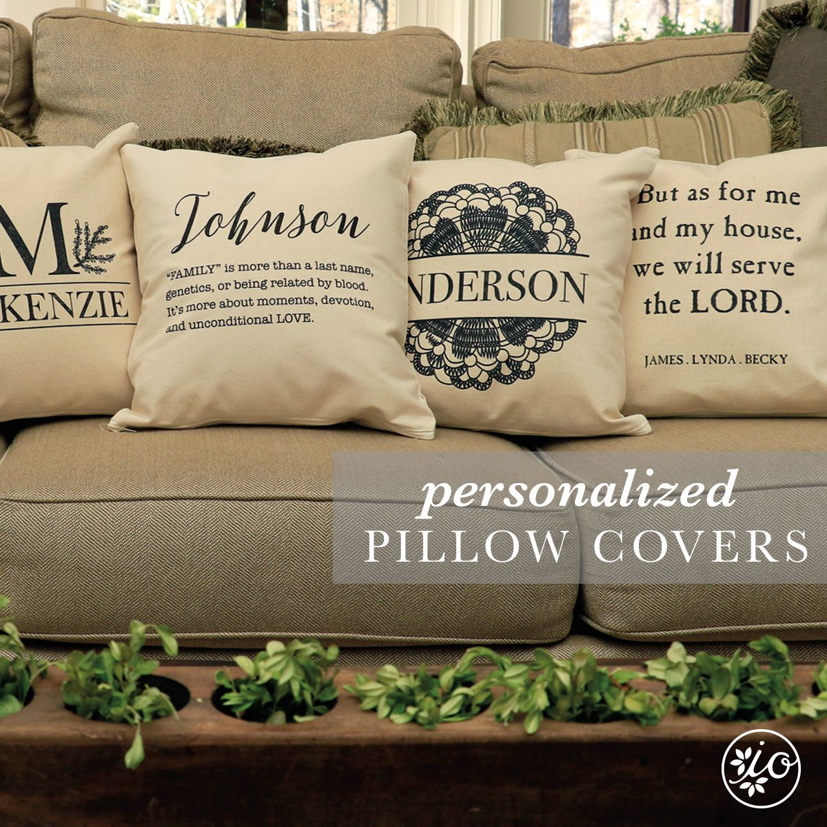 personalize pillow covers initial