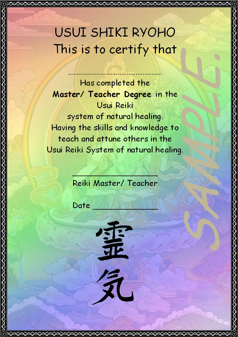 Reiki Certificate Template Kindly look around my Facebook page in order to get exceptional Reiki specific videos, short articles together with infographics. It really would be brilliant if you would like the page while you are there. Namaste https://www.facebook.com/reikiintent