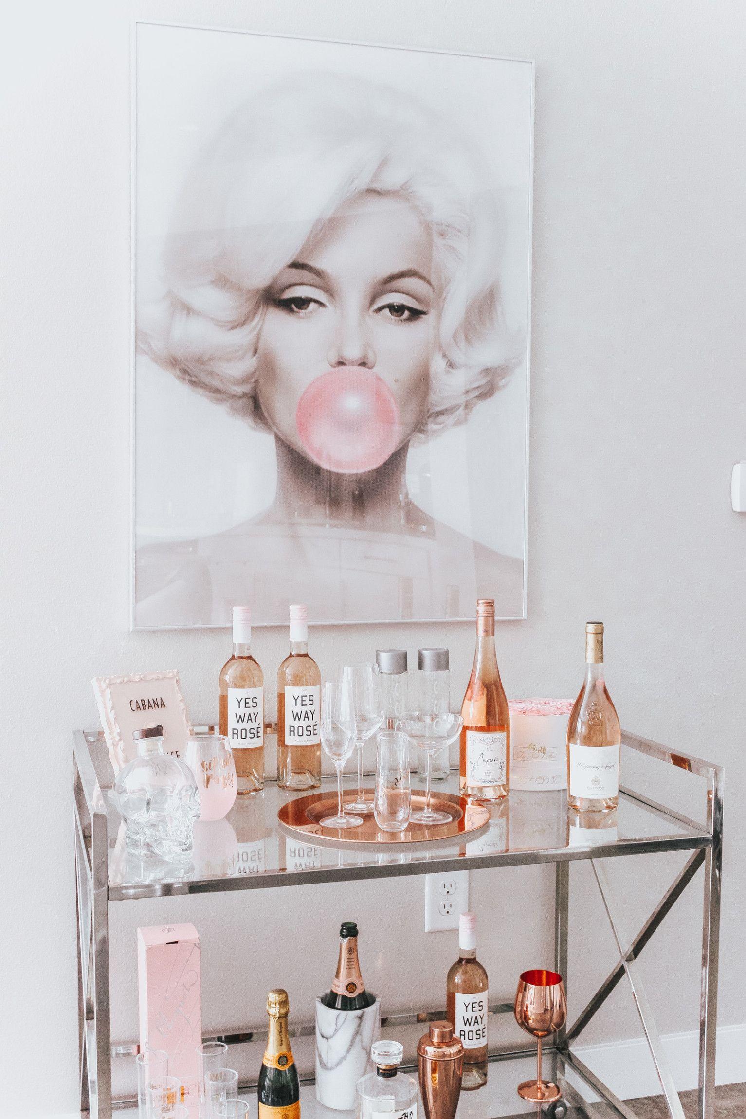 Deco Chambre Maryline Monroe chic marilyn monroe inspired bar cart | style de chariot bar