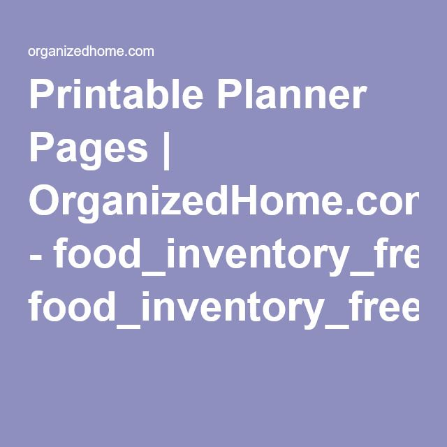 OrganizedHome.com - Food